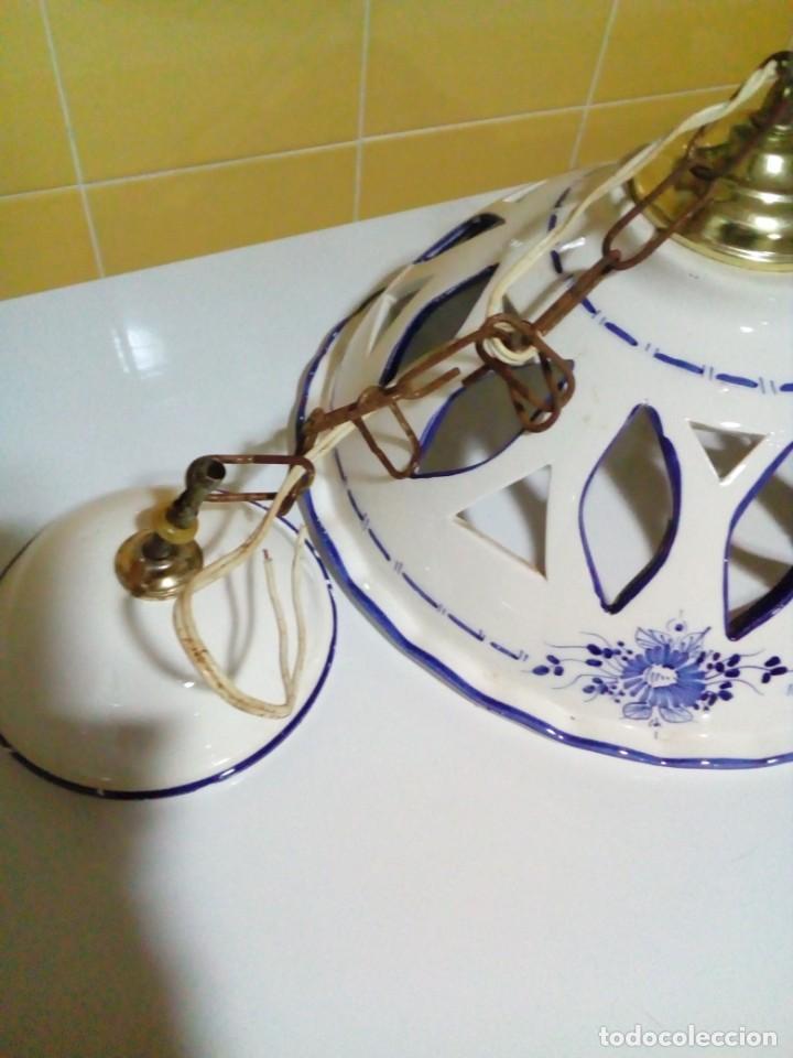 Antigüedades: bonita lampara de ceramica - Foto 2 - 194971045