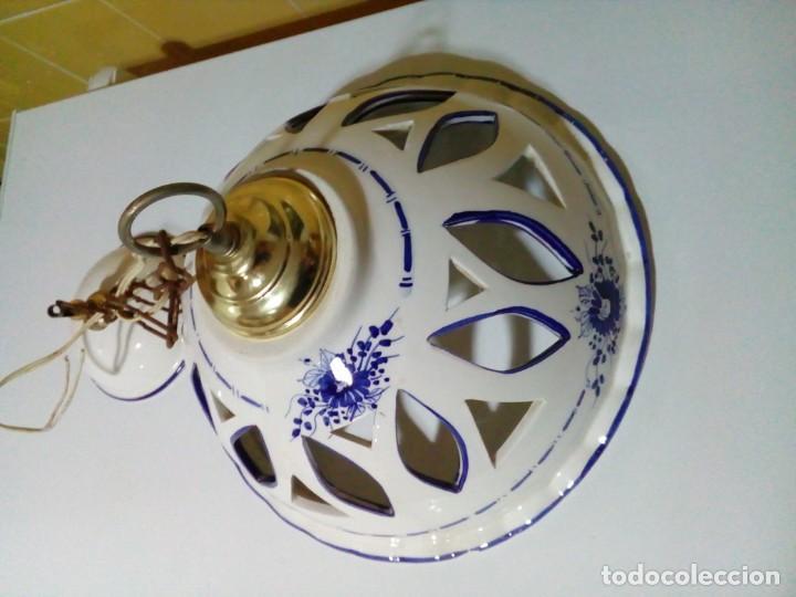 Antigüedades: bonita lampara de ceramica - Foto 3 - 194971045