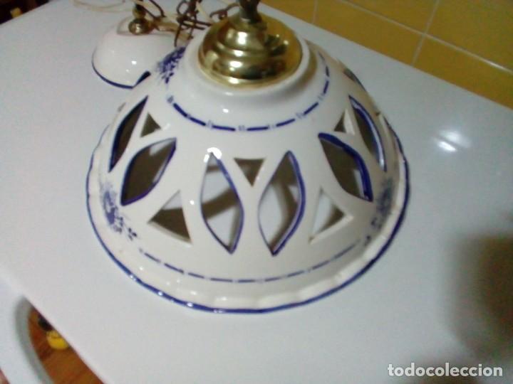 Antigüedades: bonita lampara de ceramica - Foto 4 - 194971045