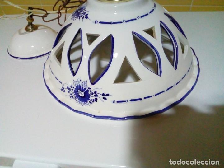 Antigüedades: bonita lampara de ceramica - Foto 5 - 194971045