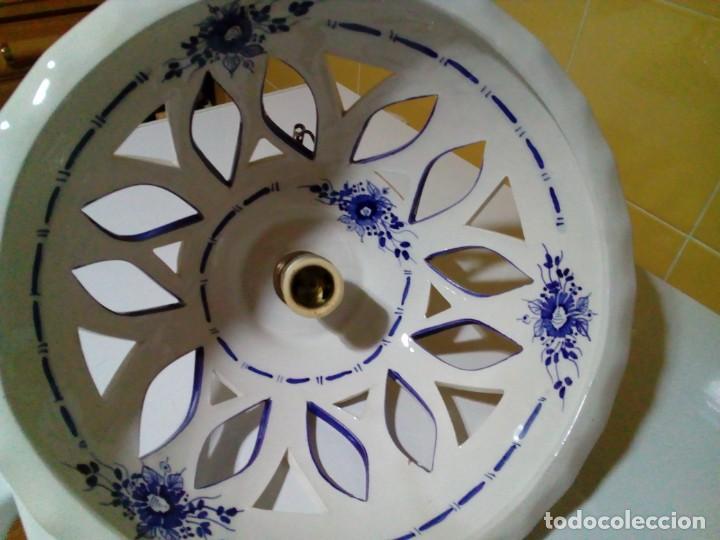 Antigüedades: bonita lampara de ceramica - Foto 6 - 194971045