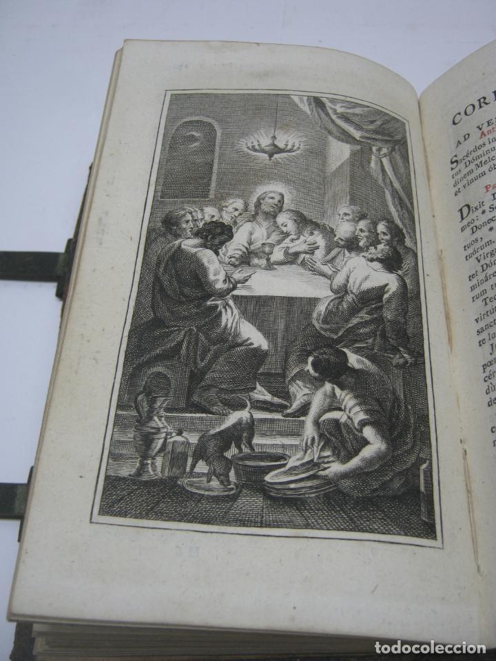 Antigüedades: s. XIX Libro con cierres metalicos . BREVIARIUM ROMANUM . CONCILI TRIDENTINI - Bellos Grabados - Foto 4 - 194971793