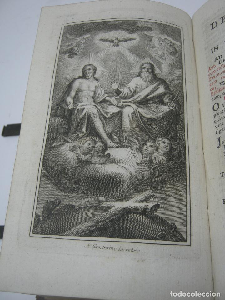 Antigüedades: s. XIX Libro con cierres metalicos . BREVIARIUM ROMANUM . CONCILI TRIDENTINI - Bellos Grabados - Foto 5 - 194971793