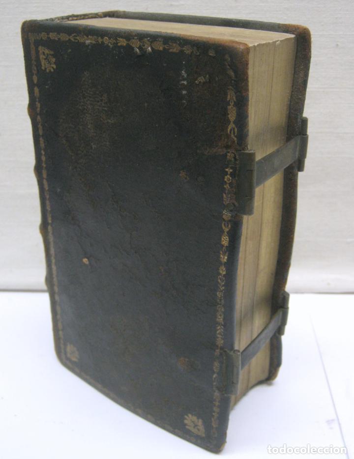 Antigüedades: s. XIX Libro con cierres metalicos . BREVIARIUM ROMANUM . CONCILI TRIDENTINI - Bellos Grabados - Foto 8 - 194971793