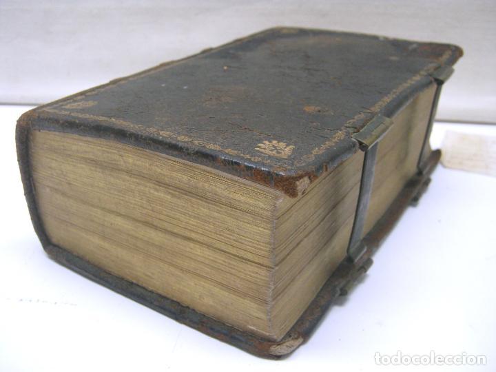 Antigüedades: s. XIX Libro con cierres metalicos . BREVIARIUM ROMANUM . CONCILI TRIDENTINI - Bellos Grabados - Foto 10 - 194971793
