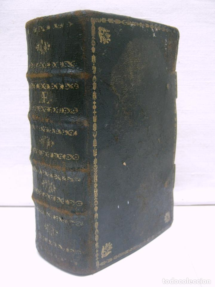 S. XIX LIBRO CON CIERRES METALICOS . BREVIARIUM ROMANUM . CONCILI TRIDENTINI - BELLOS GRABADOS (Antigüedades - Religiosas - Artículos Religiosos para Liturgias Antiguas)