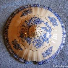 Antigüedades: TAPA FUENTE SOPERA PORCELANA SANTA CLARA, CHINA BLAU. DE 25 CMS DE DIAMETRO.. Lote 194976147