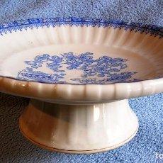 Antigüedades: FUENTE FRUTERO / CENTRO DE MESA - PORCELANA SANTA CLARA, CHINA BLAU CON 25,50 CMS DE DIAMETR. Lote 194976185