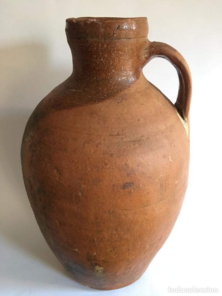 Antigüedades: ANTIGUO CÁNTARO DE BARRO POPULAR DE TORO - ZAMORA - Foto 6 - 194982631