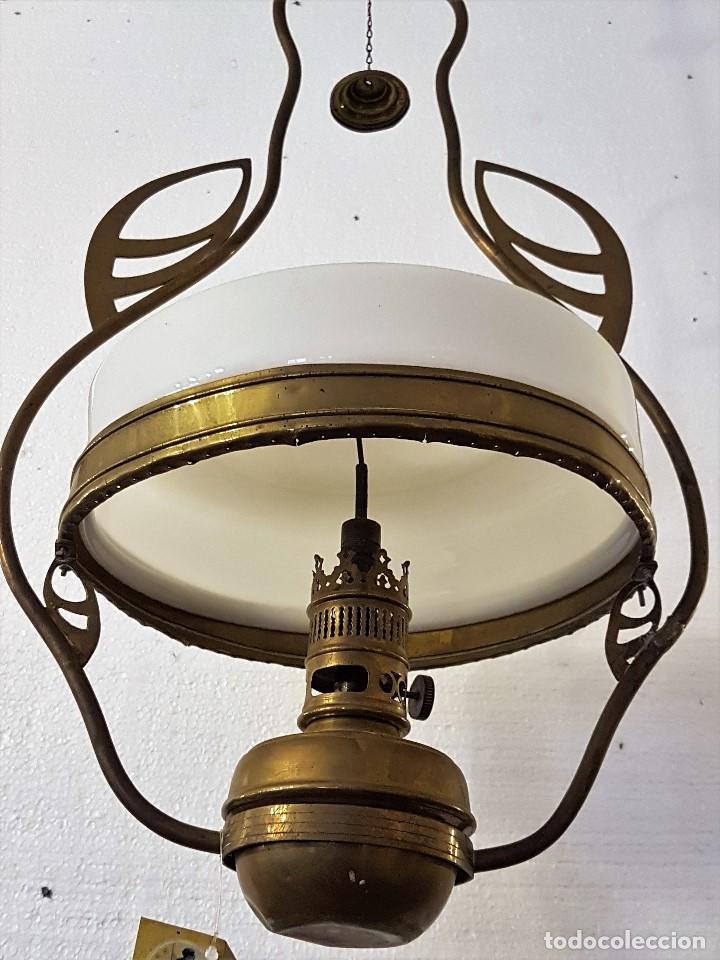 QUIQUE DE COLGAR (Antigüedades - Iluminación - Quinqués Antiguos)