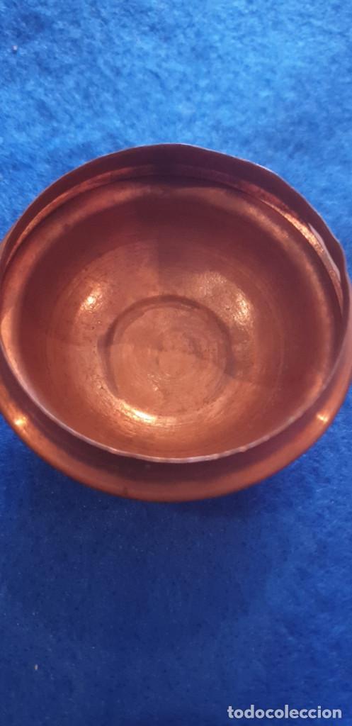 Antigüedades: Antigua tetera de cobre con tapa. - Foto 6 - 194995612