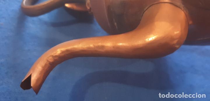 Antigüedades: Antigua tetera de cobre con tapa. - Foto 8 - 194995612