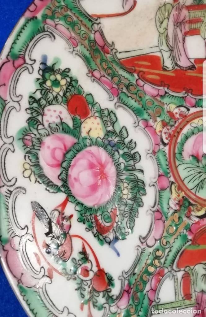 Antigüedades: Plato decorativo de porcelana china de familia, sellada - Foto 5 - 195000337