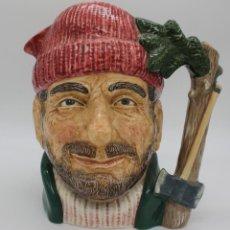 Antigüedades: JARRA DE CERVEZA CANADIAN CENTENIAL SERIES 1867-1967 LEÑADOR CANADIENSE ROYAL DOULTON D6610. Lote 195002181