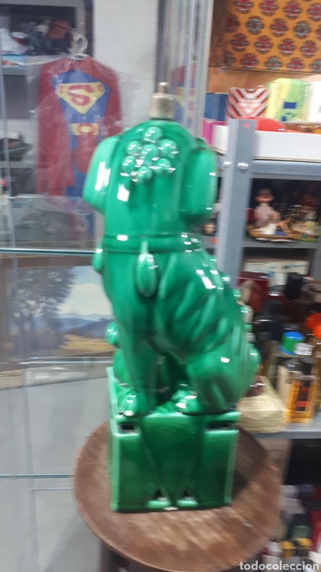 Antigüedades: Preciosa Lampara dragon perro FOO con marca en la base leer descripción alguna tara - Foto 3 - 195003937
