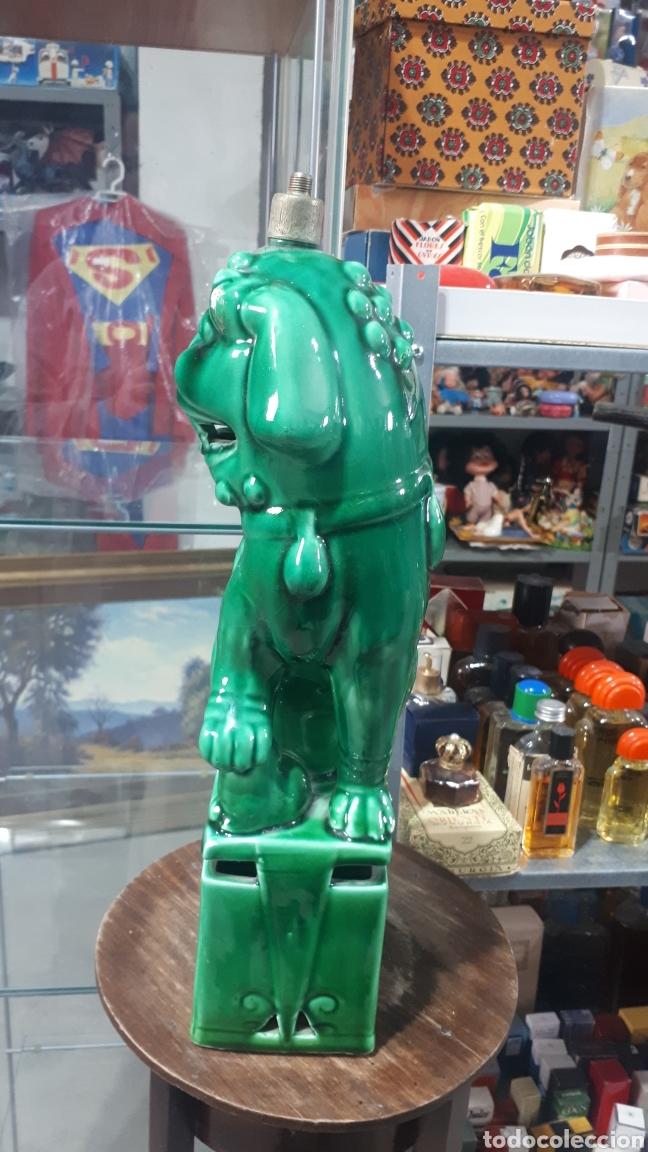 Antigüedades: Preciosa Lampara dragon perro FOO con marca en la base leer descripción alguna tara - Foto 4 - 195003937