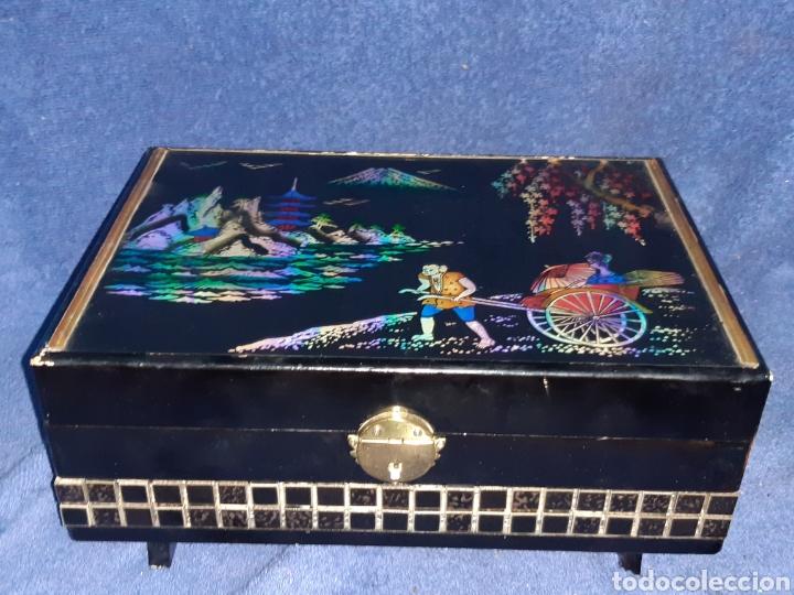 ANTIGUA CAJA JAPONESA MUSICAL (Antigüedades - Hogar y Decoración - Cajas Antiguas)