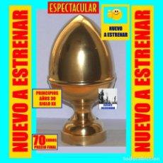 Antigüedades: PIÑA / REMATE CÓNICO PARA ARRANQUE / PRINCIPIO DE ESCALERA / BARANDA / CHIMENEA - BRONCE - NUEVO. Lote 195015933