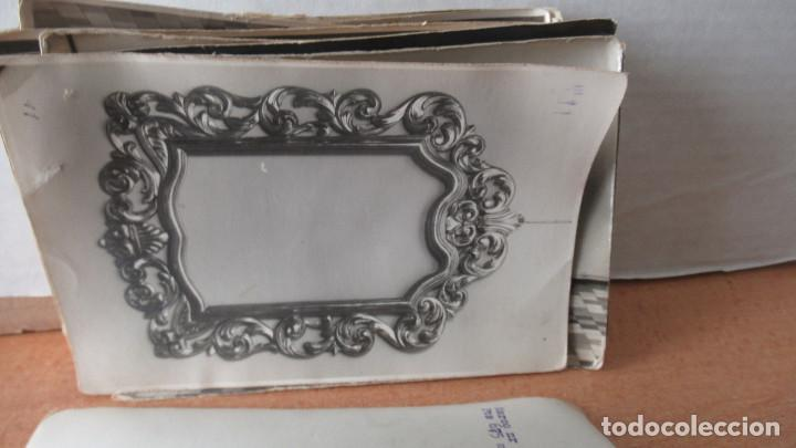 Antigüedades: lote de 35 antiguas fotos de marcos de espejo y mesas de paded. Fabrica de Zaragoza. - Foto 2 - 195019041