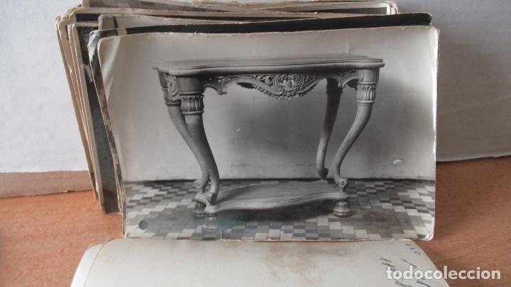 Antigüedades: lote de 35 antiguas fotos de marcos de espejo y mesas de paded. Fabrica de Zaragoza. - Foto 3 - 195019041