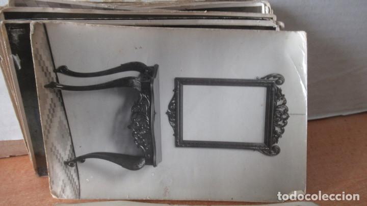 Antigüedades: lote de 35 antiguas fotos de marcos de espejo y mesas de paded. Fabrica de Zaragoza. - Foto 4 - 195019041