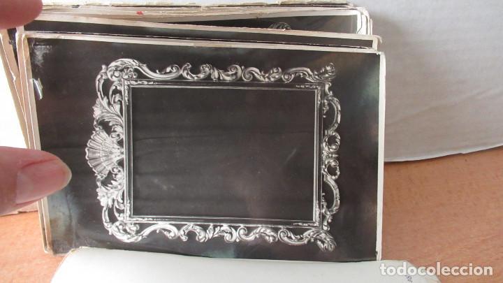 Antigüedades: lote de 35 antiguas fotos de marcos de espejo y mesas de paded. Fabrica de Zaragoza. - Foto 5 - 195019041