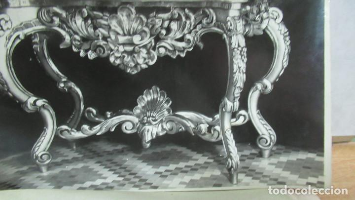 Antigüedades: lote de 35 antiguas fotos de marcos de espejo y mesas de paded. Fabrica de Zaragoza. - Foto 9 - 195019041