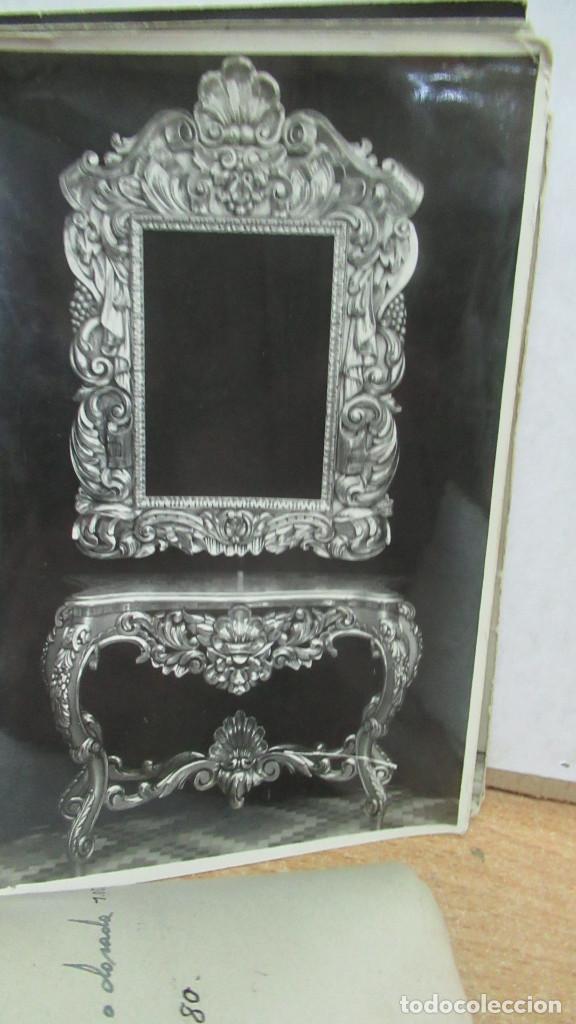 Antigüedades: lote de 35 antiguas fotos de marcos de espejo y mesas de paded. Fabrica de Zaragoza. - Foto 13 - 195019041