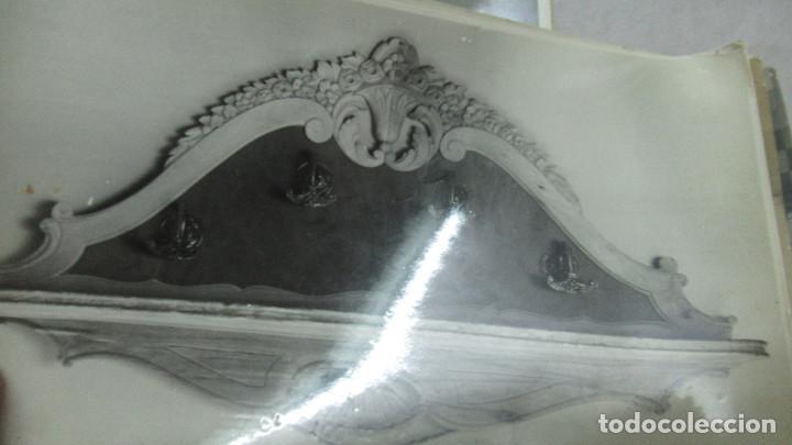 Antigüedades: lote de 35 antiguas fotos de marcos de espejo y mesas de paded. Fabrica de Zaragoza. - Foto 16 - 195019041