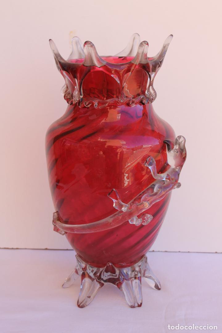 JARRON DE CRISTAL ART NOUVEAU (Antigüedades - Cristal y Vidrio - Bohemia)