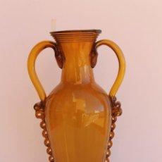 Antigüedades: JARRON DE CRISTAL MALLORQUIN ESBELTO. Lote 195020915