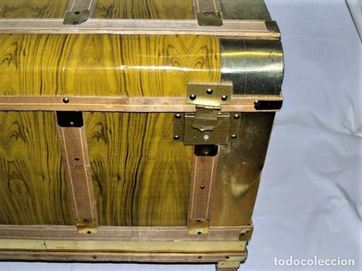 Antigüedades: Antiguo baul fabricado en los años 40- 50 - Foto 3 - 195031893
