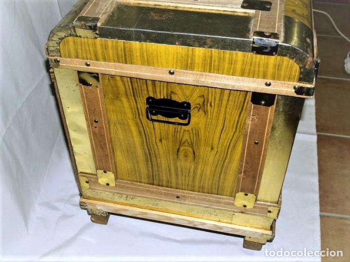 Antigüedades: Antiguo baul fabricado en los años 40- 50 - Foto 6 - 195031893