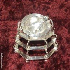 Antigüedades: BRASERO DE ALPACA. Lote 195033671