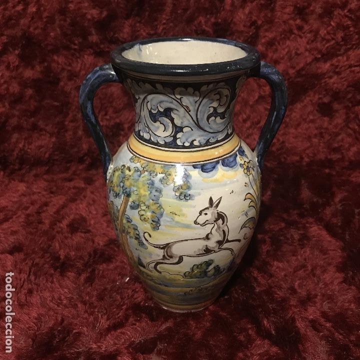 JARRONCITO TALAVERA HENCHE (Antigüedades - Porcelanas y Cerámicas - Talavera)