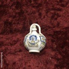Antigüedades: PEQUEÑO BOTIJO HENCHE VIRGEN DEL PRADO. Lote 195034895