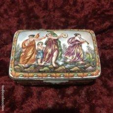 Antigüedades: CAPODIMONTE CAJA MUJERES Y NIÑOS. Lote 195039685