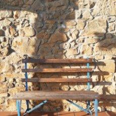Antigüedades: PRECIOSO BANCO DE HIERRO - FORJA - JARDÍN - CIRCA 1910. Lote 195040620