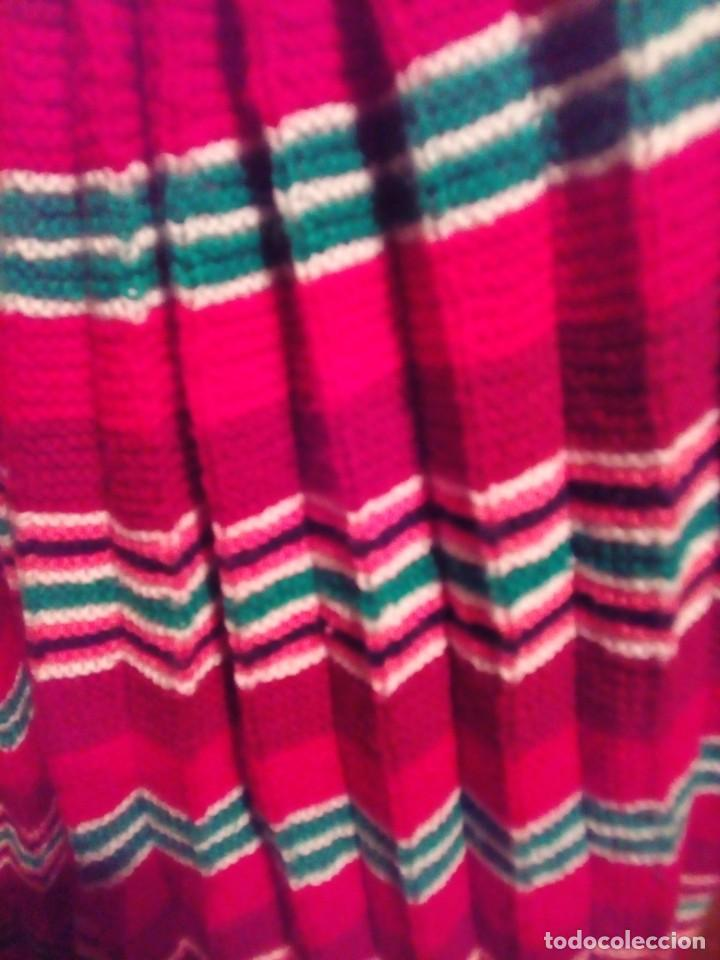Antigüedades: falda plisada tejida a dos agujas- talla 36 - Foto 3 - 195046322