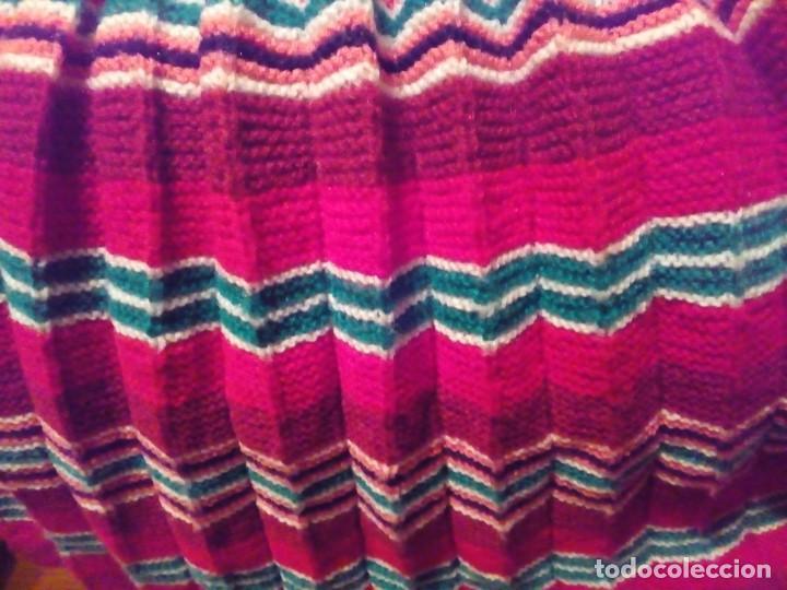 Antigüedades: falda plisada tejida a dos agujas- talla 36 - Foto 6 - 195046322