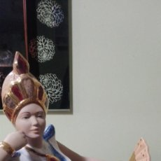 Antigüedades: FIGURA PORCELANA EGIPCIA O CERÁMICA. Lote 195047746