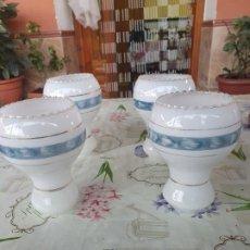 Antigüedades: ANTIGUO JUEGO DE 4 TULIPAS. Lote 195047833