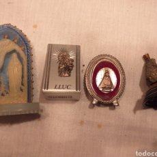 Antigüedades: 4 PEANAS DE VIRGENES. Lote 195049151