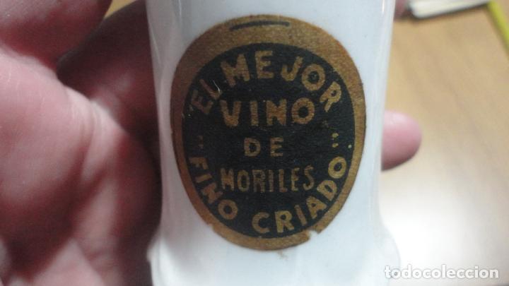 Antigüedades: ANTIGUO PALILLERO PUBLICITARIO.FINO CRIADO.EL MEJOR VINO DE MORILES.CORDOBA.PORCELANA SIGLO XX - Foto 4 - 195049201