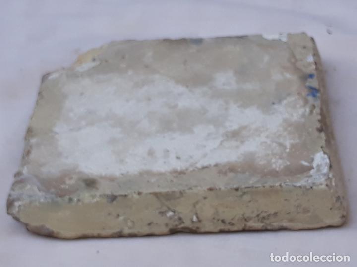 Antigüedades: AZULEJO ANTIGUO GOTICO ( OLAMBRILLA ) MANISES ( VALENCIA ) SIGLO XV. - Foto 3 - 195049871