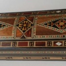 Antigüedades: CAJA DE MADERA TARACEA GRANADINA. Lote 195050451