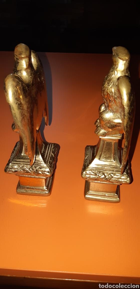 Antigüedades: 2 águilas imperiales, bronce años 60 - Foto 3 - 195051322