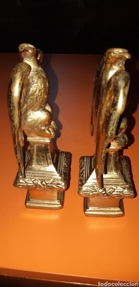 Antigüedades: 2 águilas imperiales, bronce años 60 - Foto 7 - 195051322