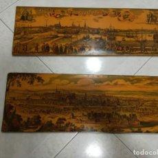 Antigüedades: TABLAS MUY ANTIGUAS DE PARÍS Y COPENAGUE. Lote 195055333
