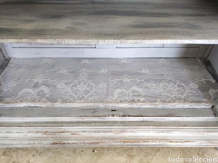 Antigüedades: Aparador Alain restaurado gris decapado - Foto 3 - 195059370